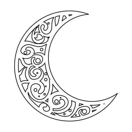 ramadan kareem moon decorative vector illustration design Stock Illustratie