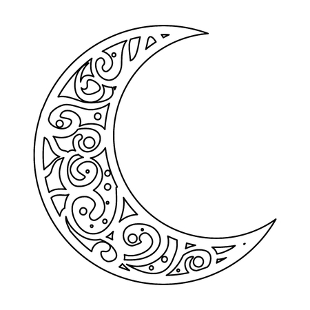 ramadan kareem moon decorative vector illustration design