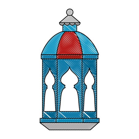 lamp hanging decoration ramadan kareem celebration vector illustration Ilustração