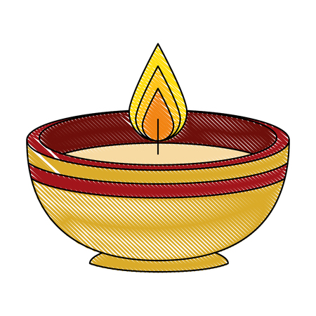 ceremonial candle isolated icon vector illustration design Zdjęcie Seryjne - 102030646