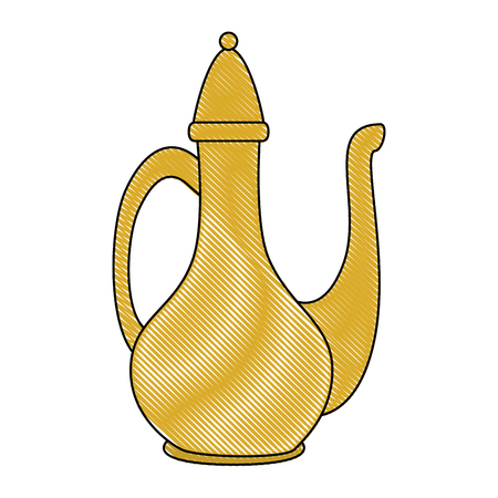 ceremonial teapot isolated icon vector illustration design