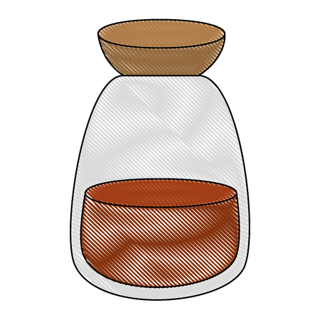 ramadan kareem jar with powder vector illustration design 일러스트