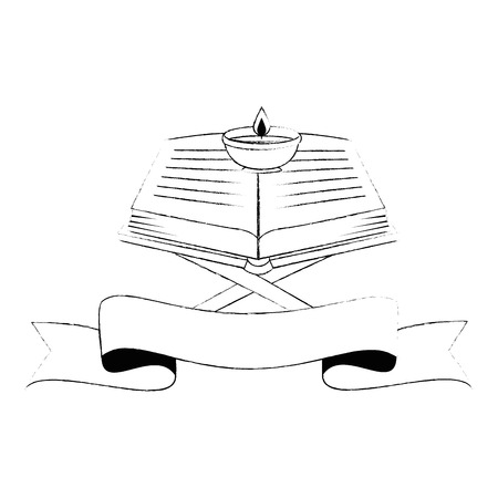 sacred book with lectern religious icon vector illustration design Imagens - 102030670