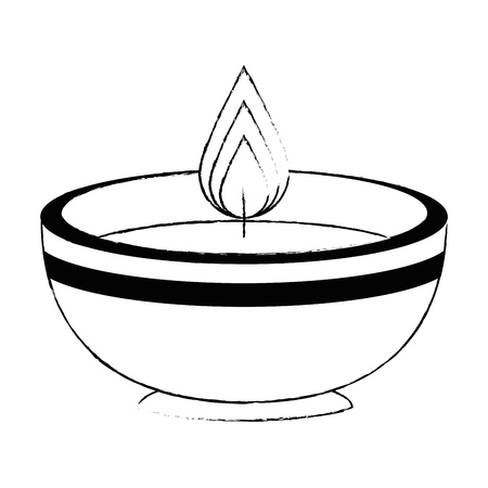 ceremonial candle isolated icon vector illustration design Zdjęcie Seryjne - 102030680