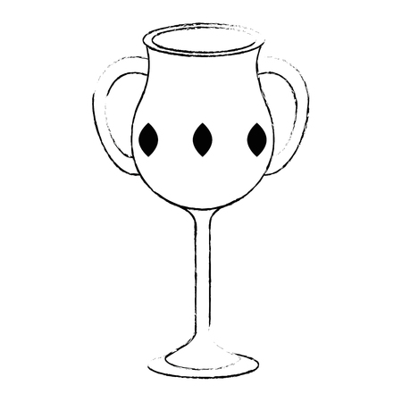 sacred chalice cup icon vector illustration design Illustration