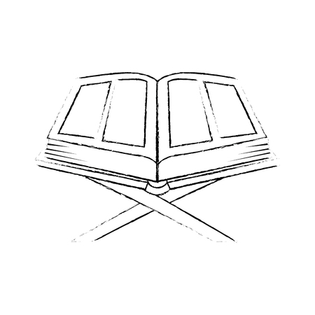 sacred book with lectern religious icon vector illustration design Imagens - 102030750