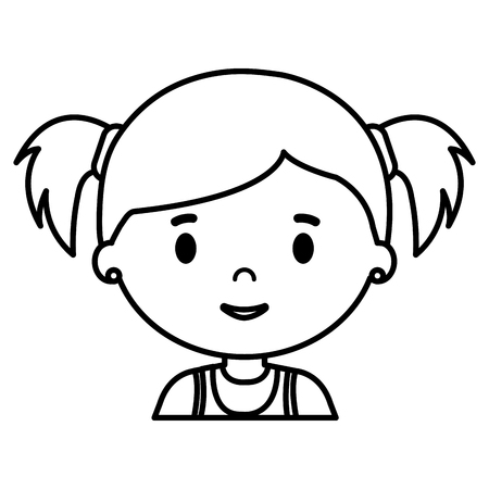 little girl daughter character vector illustration design