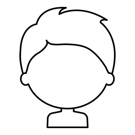 little boy son shirtless character vector illustration design