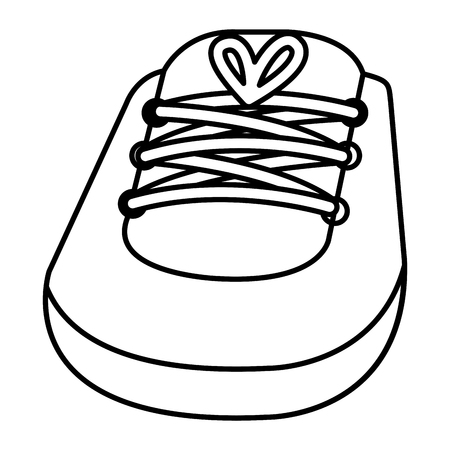 shoe little baby icon vector illustration design