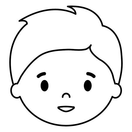 little boy son head character vector illustration design Stock Vector - 102065565
