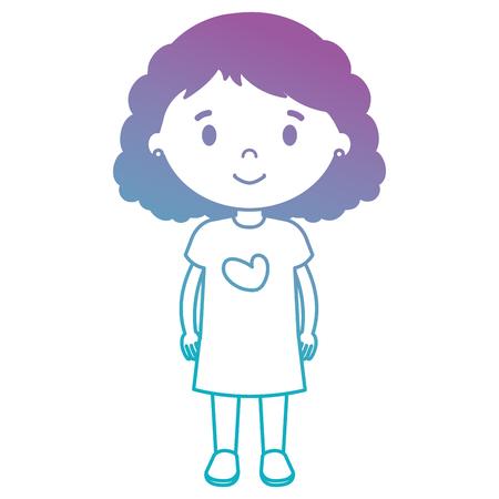 little girl daughter character vector illustration design Stock Vector - 102065630