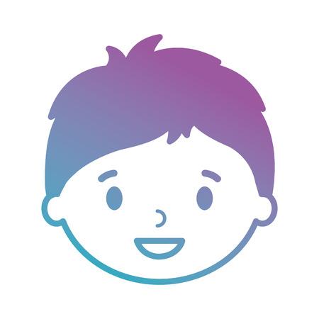 little boy son head character vector illustration design Illustration