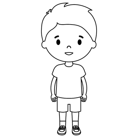 little boy son character vector illustration design