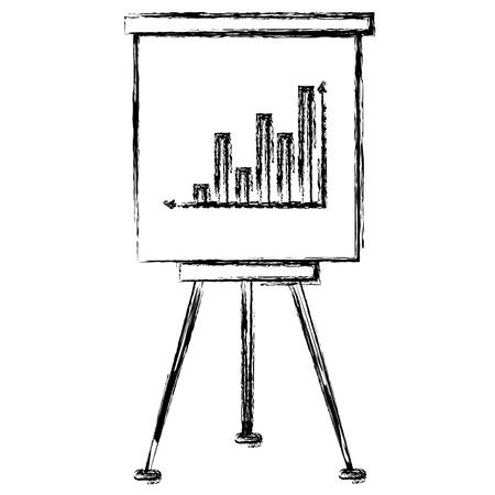 paperboard training with statistics vector illustration design