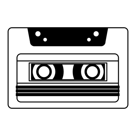 retro cassette recorder music vintage vector illustration