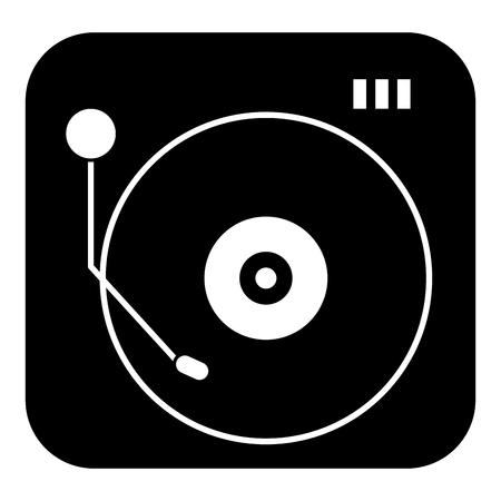turntable vinyl record music audio vintage retro vector illustration