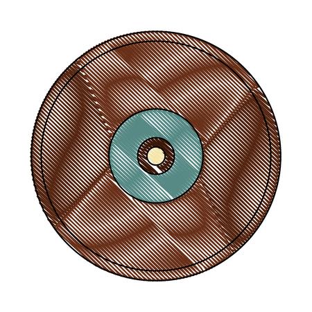 vintage retro vinyl lp record music vector illustration Illustration
