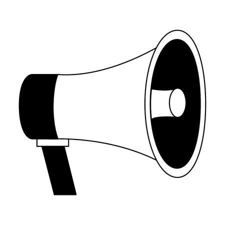 retro megaphone shouting voice vintage vector illustration Illustration
