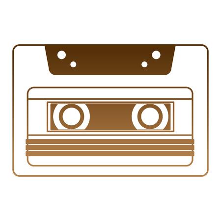 retro cassette recorder music vintage vector illustration