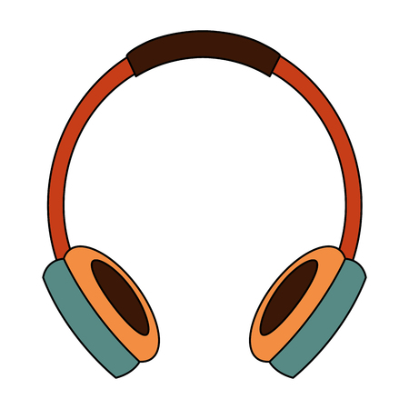 old retro headphones vintage style vector illustration Banque d'images - 102099097
