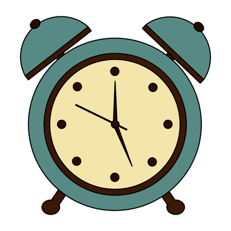 alarm clock retro vintage image vector illustration