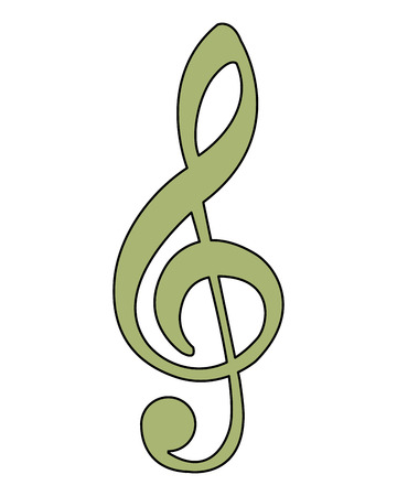 music note melody song image vector illustration