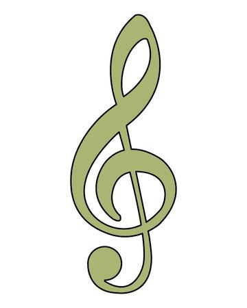 illustration vectorielle de note de musique mélodie chanson image