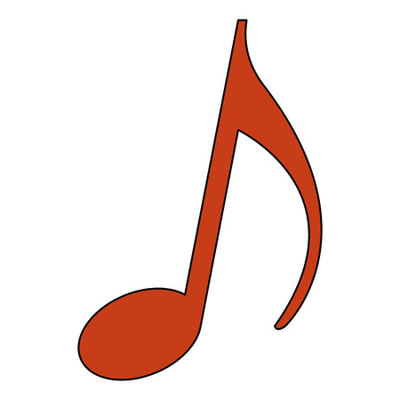 music note melody song image vector illustration 写真素材 - 102099400