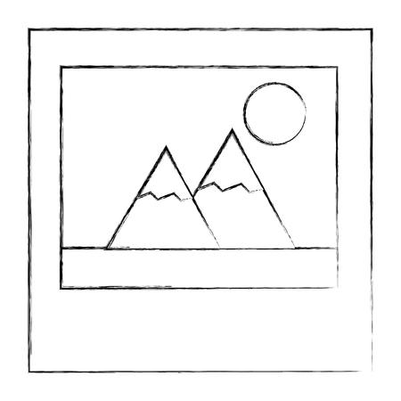 photo picture album image design vector illustration sketch