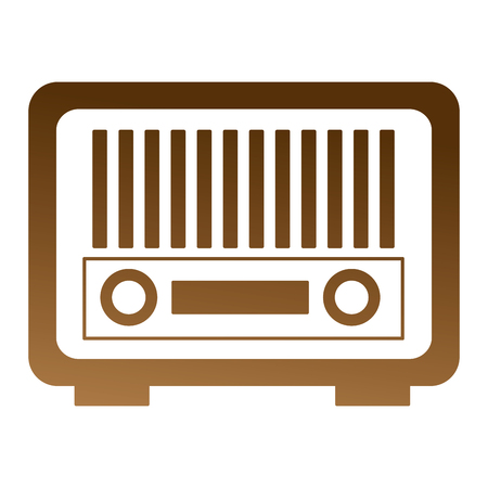 vintage antique radio on white background vector illustration Ilustração