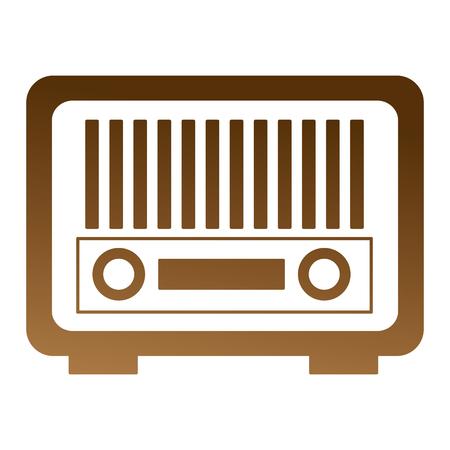 vintage antique radio on white background vector illustration  イラスト・ベクター素材