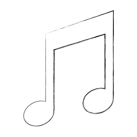 music note melody song image vector illustration sketch 写真素材 - 102099465