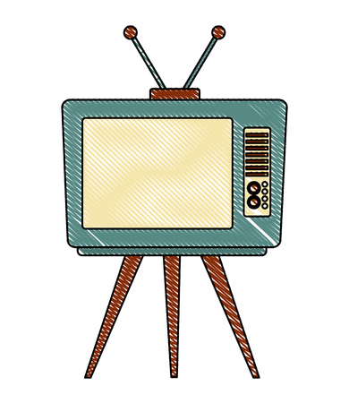 tv old retro style vector illustration design 向量圖像