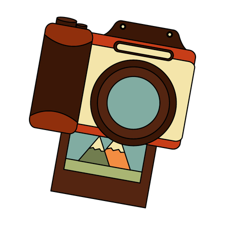 vintage photography camera photo image retro vector illustration Standard-Bild - 102099474