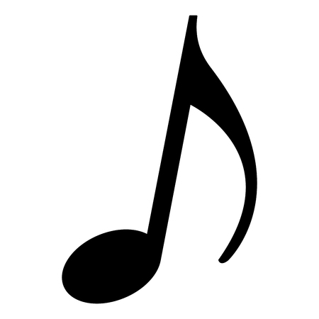 music note melody song image vector illustration black and white  イラスト・ベクター素材