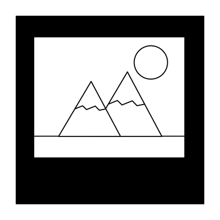 photo picture album image design vector illustration black and white