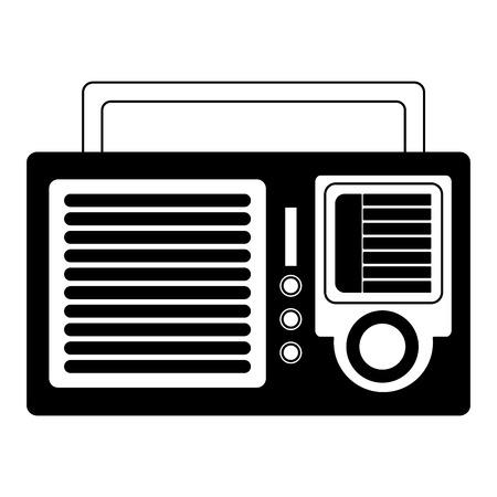 Radio retro radio sonido ilustración vectorial imagen roja y blanco Foto de archivo - 102119595