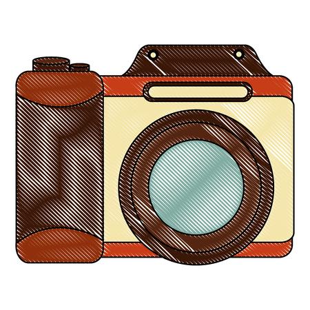 retro camera photographic icon vector illustration design