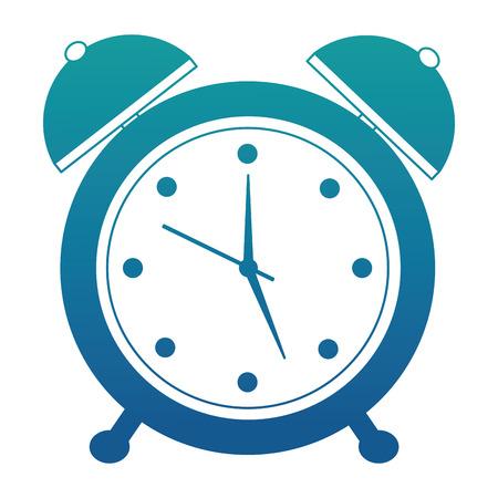 alarm clock retro vintage image vector illustration neon blue