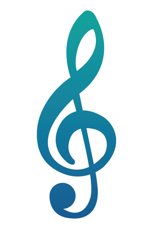 music note melody song image vector illustration neon blue  イラスト・ベクター素材