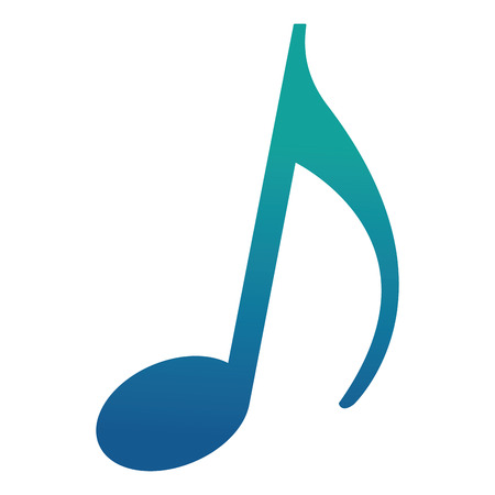 music note melody song image vector illustration neon blue Stock Illustratie