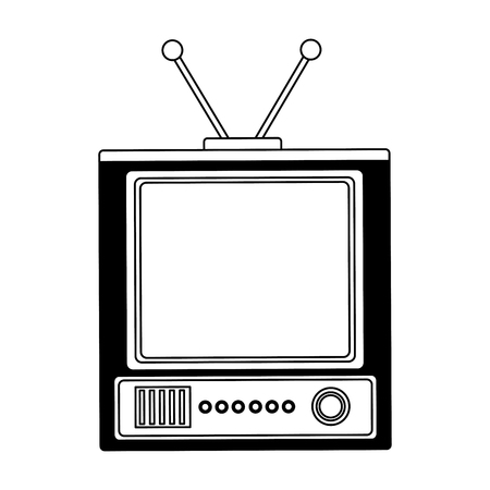 retro television vintage device image vector illustration 写真素材 - 102110379