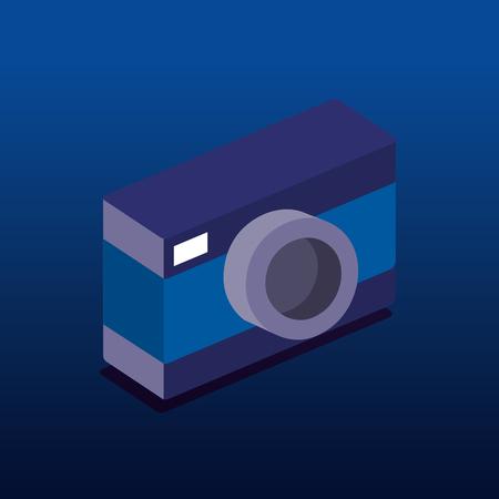 camera photographic isometric icon vector illustration design Ilustração