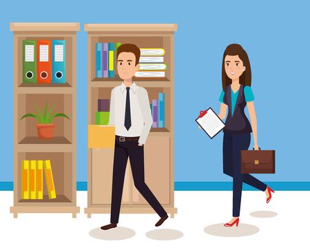 gente de negocios en la oficina ilustración vectorial eps 10 de diseño
