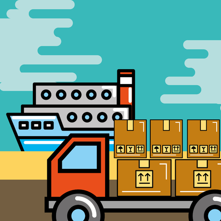 logistic and delivery vector illustration Ilustração