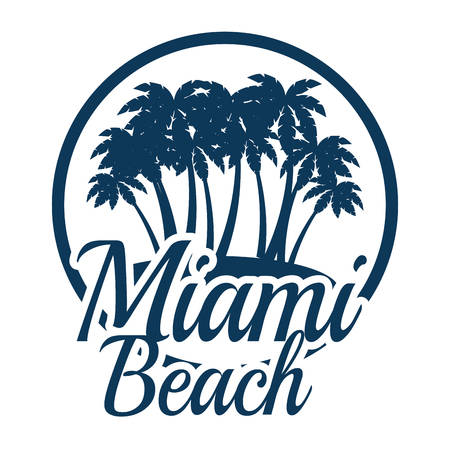 miami beach california seal vector illustration design 向量圖像