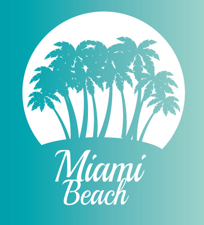 miami beach california scene vector illustration design 向量圖像