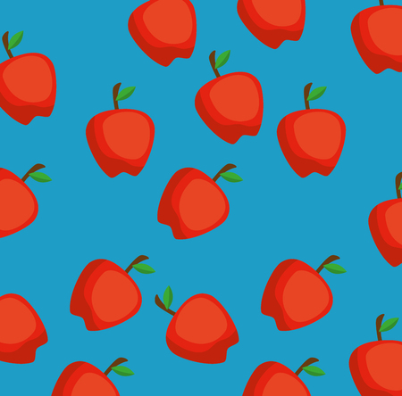fresh apples pattern background vector illustration design