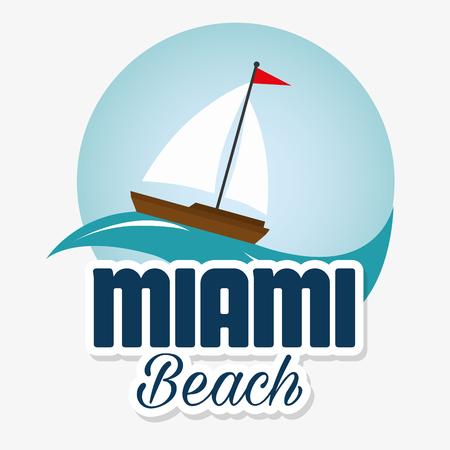 miami beach california scene vector illustration design 일러스트