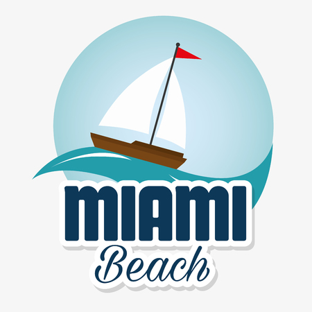 miami beach california scene vector illustration design 矢量图像